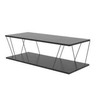 Konferenčný stolík LABRANDA, antracit/čierna