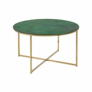 Konferenčný stolík s doskou v dekore zeleného mramoru Actona Alisma