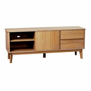 Prírodný televízny stolík z dubového dreva Rowico YuRAi