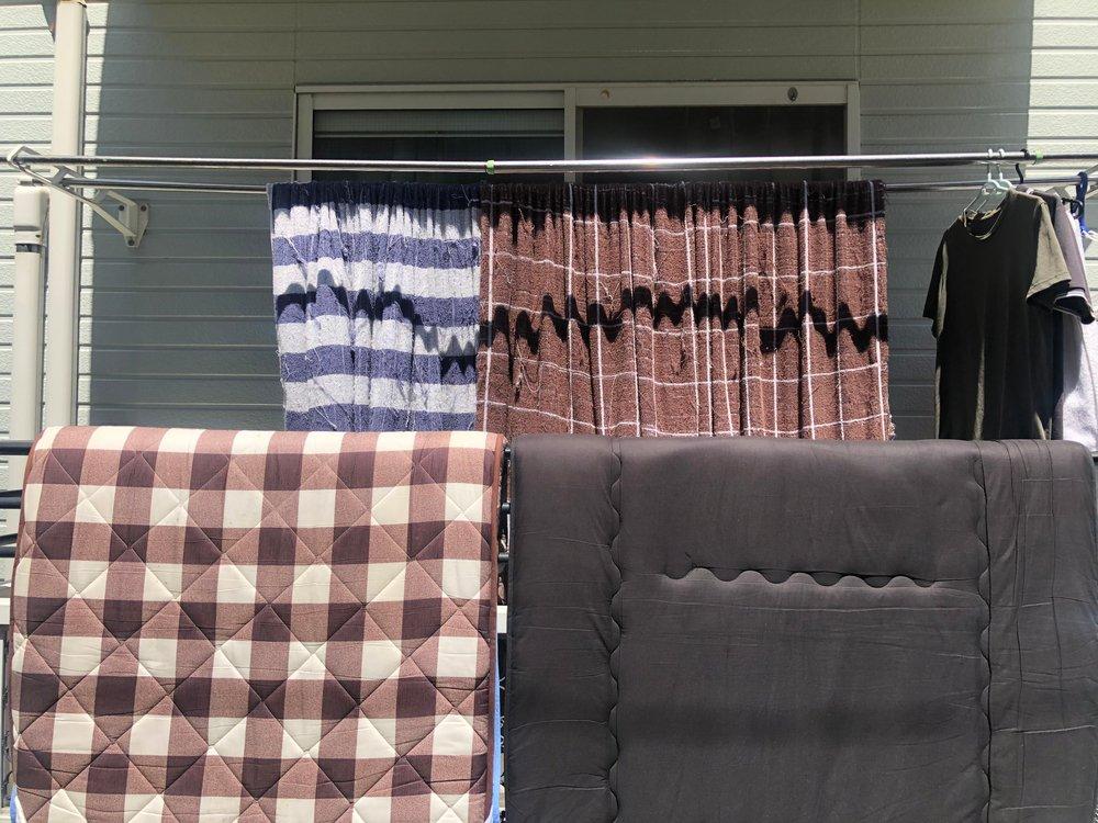 Vetranie futonov