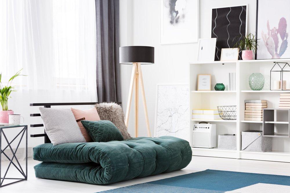 Zložený futon