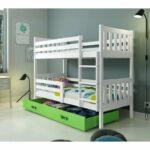 Poschodová detská posteľ Carino so zásuvkou 80x190