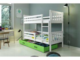 Poschodová detská posteľ Carino so zásuvkou 80×190