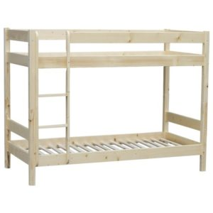 Poschodová posteľ MILOS, smrek, 90×200 cm