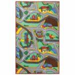 Detský koberec PLAYTIME, viacfarebná, 140x200 cm