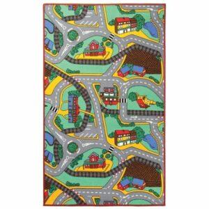Detský koberec PLAYTIME, viacfarebná, 140×200 cm