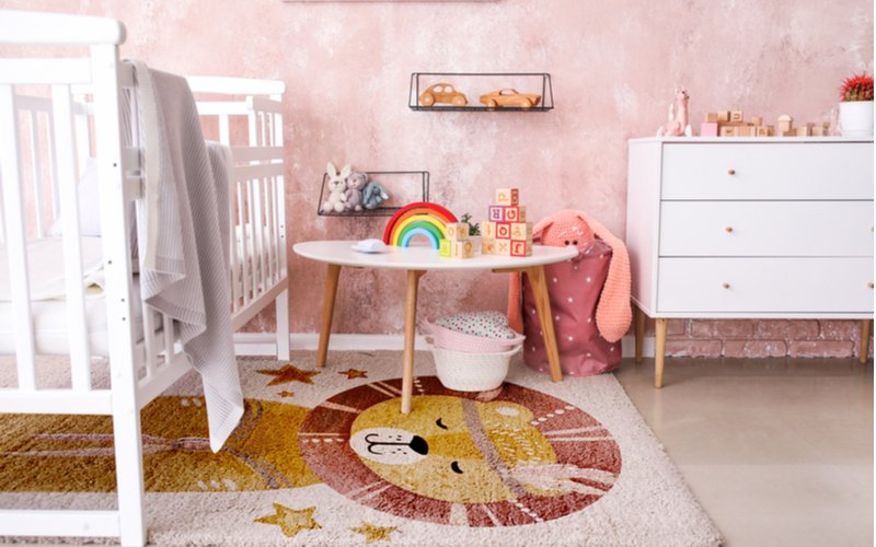 Detský koberec s obrázkom leva