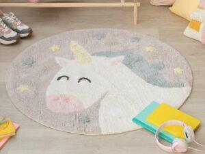 Detský prateľný koberec Unicorn