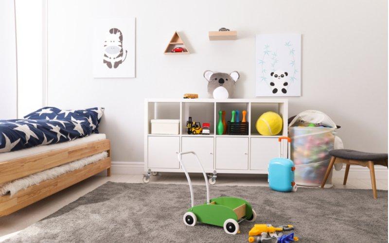 Detský koberec v hnedej farbe