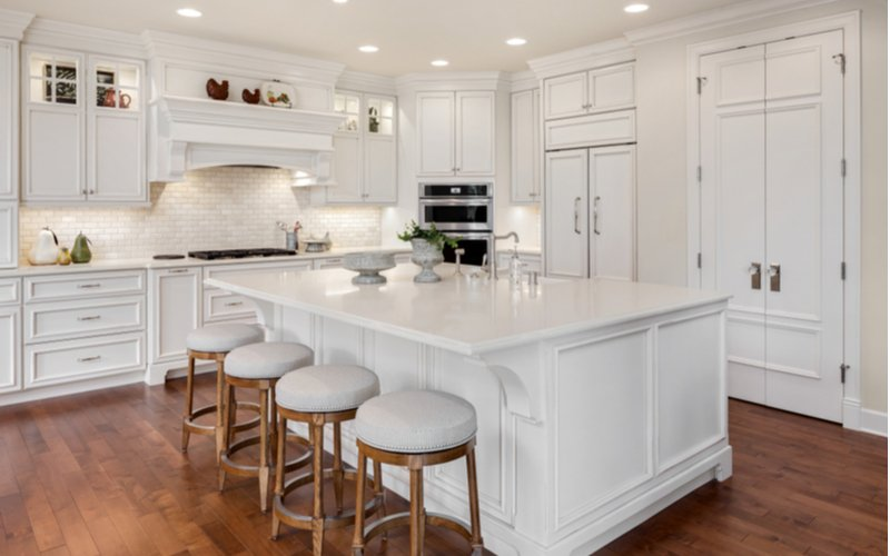 Luxusná biela kuchynská linka