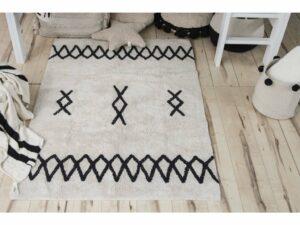 Prateľný koberec ATLAS Natural Black 120×160
