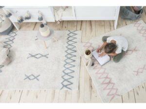 Prateľný koberec ATLAS Vintage Blue 120×160