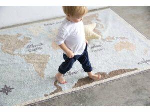 Prateľný koberec Vintage Map 140×200