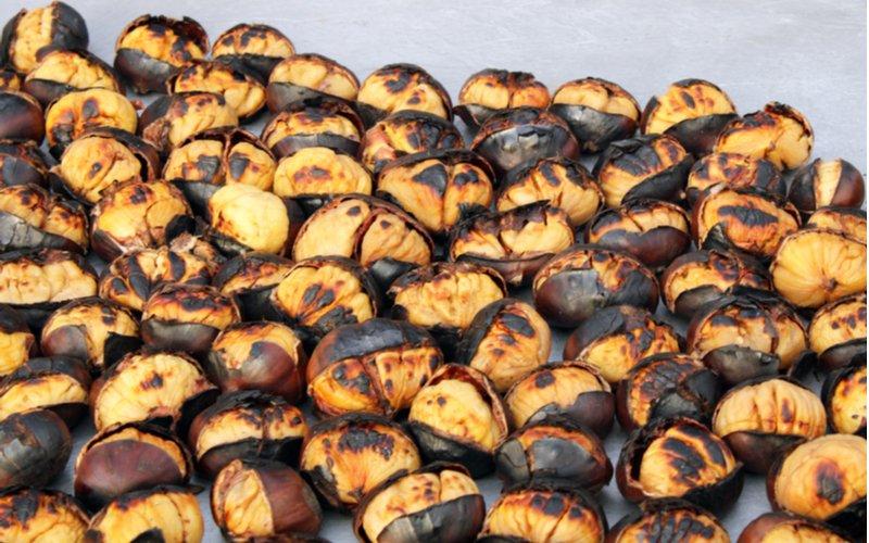 Gaštany pečené v rúre
