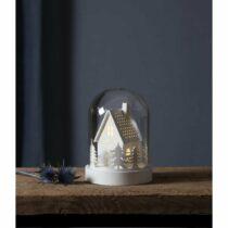 Svetelná LED dekorácie Star Trading Kupol House, výška 17,5 cm